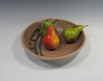 Shallow Serving Bowl - Pasta Bowl - Brown Bowl - Platter - Entertaining - Home Decor - Handmade Pottery