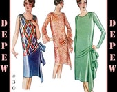 Vintage Sewing Pattern Reproduction Ladies' 1920's Evening or Day Dress #3062 - INSTANT DOWNLOAD