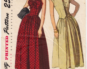 Vintage Sewing Pattern Simplicity 2395 Ladies' Sun Dress and Jacket 1940's 30 Bust - With FREE Pattern Grading E-Book Included