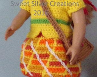 18 inch American Girl Crochet Pattern - Apple Dumplin