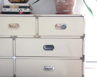 Bernhardt WhiteCampaign Dresser Cabinet