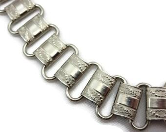 Silver Book Chain Belt - SilverTone, Chain Link Belt, Belly Chain