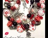 Zombie Jewelry - Zombie Bracelet - Zombie Necklace - Zombie Carnage Charm Bracelet Full Photo - Horror Jewelry - Horror Bracelet