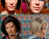 Male Doll Beard Facial Hair OOAK Painting Services Package Barbie Ken Integrity