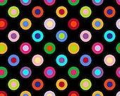 Circles Multi Black Colorworks Concepts Northcott Fabric 1 yard