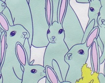 Rabbits Hipster Hare Pool Alexander Henry Fabric 1 yard