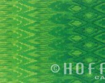 Ombre Radiant Gradient Green Ikat Hoffman Fabric 1 yard