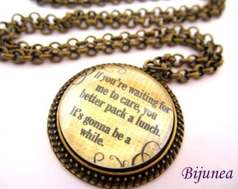 Quotes necklace - Phrases necklace - Quotes necklace - Phrases necklace n675