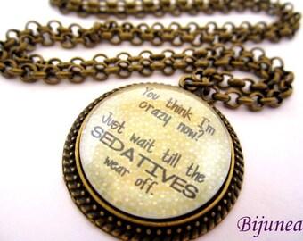 Quotes necklace - Quotes necklace - Phrases necklace n678