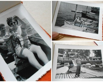 13 pg kodak snapshots 1950s 1960s vintage photo album