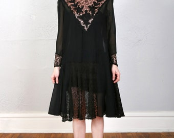 SALE- 1920s Lace Dress FLAPPER GOWN