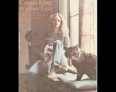 CAROLE KING Sheet Music Vintage Its Too Late