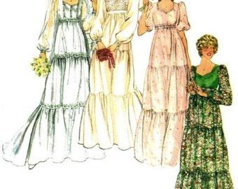 Vintage Butterick 5938 Misses Bridal Gown: Bridesmaid Sewing Pattern  UNCUT Several Sizes