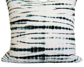 Indigo Tie Dye Style Linen Pillow  |  BROTHERS