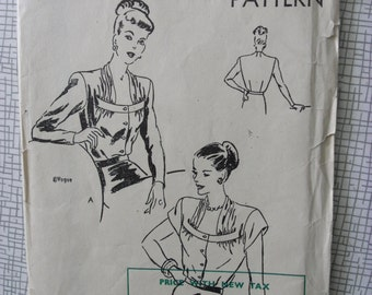 "1948 Blouse - 30"" Bust - Vogue 5918 - 1940s Vintage Sewing Pattern"