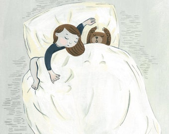 "Sweet Dream, illustration, 8""X10"" Archival Print"