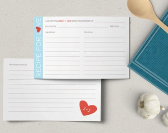 Custom Recipe For Love Cards