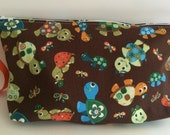 Turtles in Hats Large SoftSider Pouch