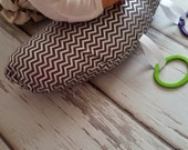 Organic Tummy Time Pillow, Metallic Silver Chevrons