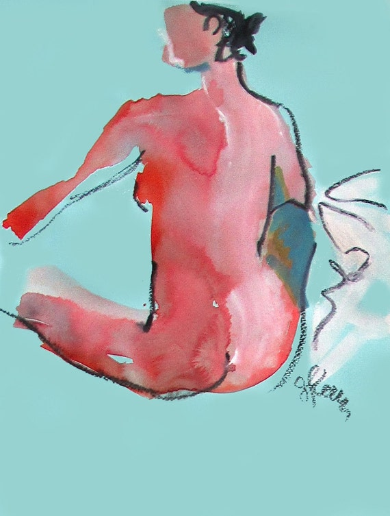 Nude painting#1320  Original painting by Gretchen Kelly