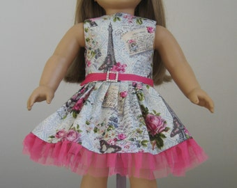 Made to Fit American Girl Dolls, April in Paris Dress, Fits American Girl Doll