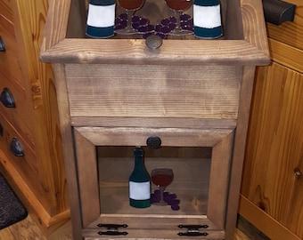 Potato Storage Bin - Wine