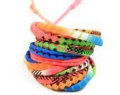 Gift for Girlfriend, Neon Bracelet, Girlfriend Gift, Wife Gift, Neon Jewelry, Neon Fashion, Neon Wrap Bracelet, Bracelet Neon, Boyfriend