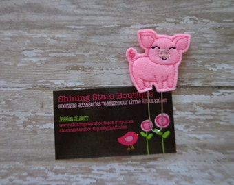 Planner Clips - Light Pink Pig, Piggy, Or Piglet Felt Paper Clip Or Bookmark - Farm Piggie Animal Accessories For Planners Or Books