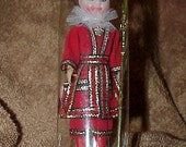 Vintage--British Royal Guard--Celluloid DOLL--Beefeater--England--In Original Package