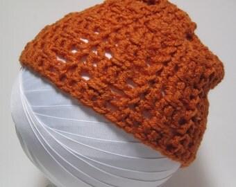 Orange Beanie Hat, Pumpkin Hat, Orange Hat, Pumpkin Crochet Hat,  Orange Crochet Hat, Pumpkin Crochet Beanie, Winter Hat, Fall, Gift for Her