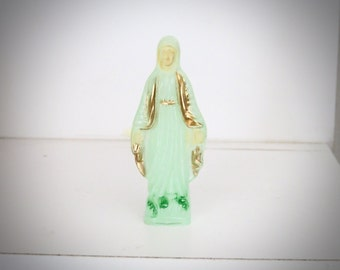Petite Glow in the Dark VIRGIN MARY Plastic Statue- Protection that you need at all times