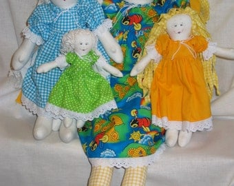 e-Pattern - Bea's Rag Dolls - a collection of different sized raggies - PDF