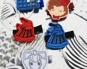 Who Called the Doctor Clippie, Dr. Who  Inspired Hair Clip