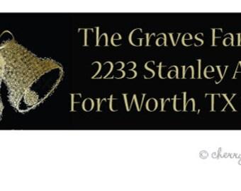 Glammer gold address labels - set of 75