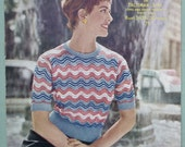 Vintage 50s Knitting Pattern Women's Sweater Jumper Top - lacy feather and fan design - 1950s original pattern - Sirdar No. 7620 UK