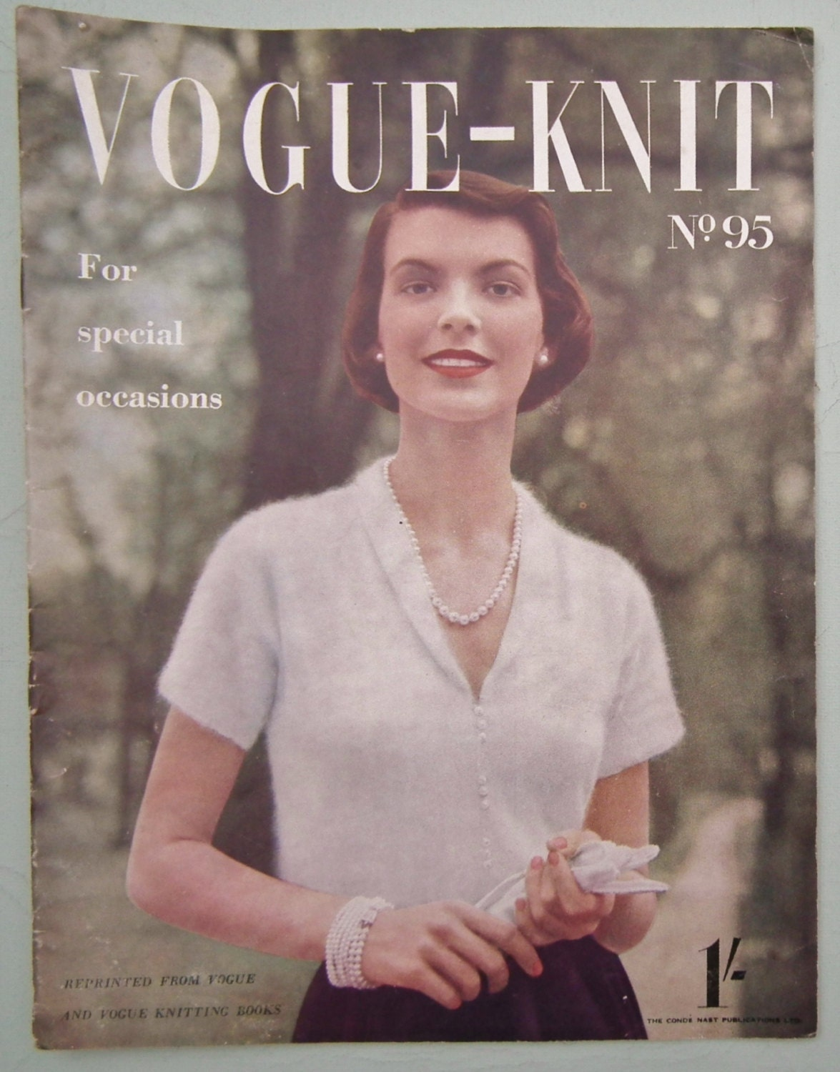 Vintage 1940s Vogue Knitting Patterns Book Vogue-Knit No. 95
