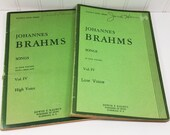 Johannes Brahms Songs, 1946 Kalmus Song Series, Volume IV High Voice and Low Voice Editions, German Vocal Score