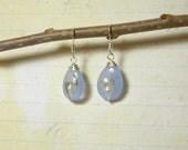 blue earrings, tear drop earrings, something blue, spiral earrings, donate life, organ donation, blue earrings, light blue earrings