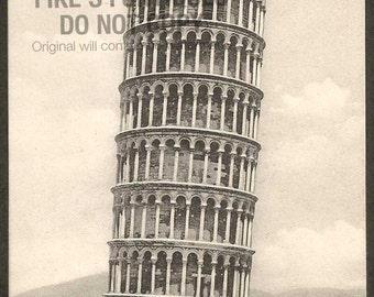 Leaning Tower of Pisa, Italy Antique Postcard