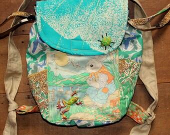 little bunny fishing backpack