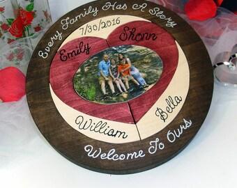 Custom Designed Unity Ceremony Wedding Puzzle Custom Photo Unity Puzzle Blended Family Wedding Unity Puzzle Personalized Christmas Gift