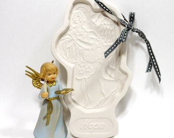 1994 Vintage ANGEL HOPE Cookie Mold Longaberger Pottery Stars USA Collectible Gift For Sister Kitchen Baking Supply Tool PeachyChicBoutique