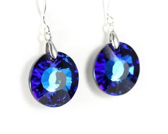 Sun jewelry, sun earrings, blue crystal earrings, green crystal earrings, blue green crystal, blue green earrings, blue sun jewelry