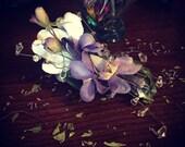 Purple Winter Flowers Hair Clip