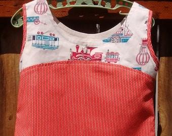 Sleeveless Choo Choo Check Dress Size 2T