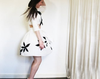 upcycled clothing . S - M . wrap skirt . romance in paris