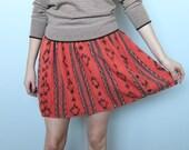 desert weaver -- vintage woven ikat cotton skirt size S/M