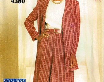Misses Jacket Skirt Suit Butterick 4380 See and Sew Sewing Pattern Plus Size 18 20 22 Bust 40 42 44  Uncut Factory Folded