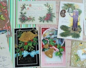 Glitter and Foil Add to the Beauty of Antique Postcard Lot No 67 Unique Lot of 8 Postcards