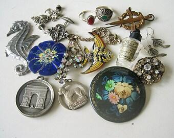 Antique jewelry lot, Vintage jewelry lot, Jewelry destash, French jewelry lot, Antique French jewelry, jewelry lot, Large jewelry lot